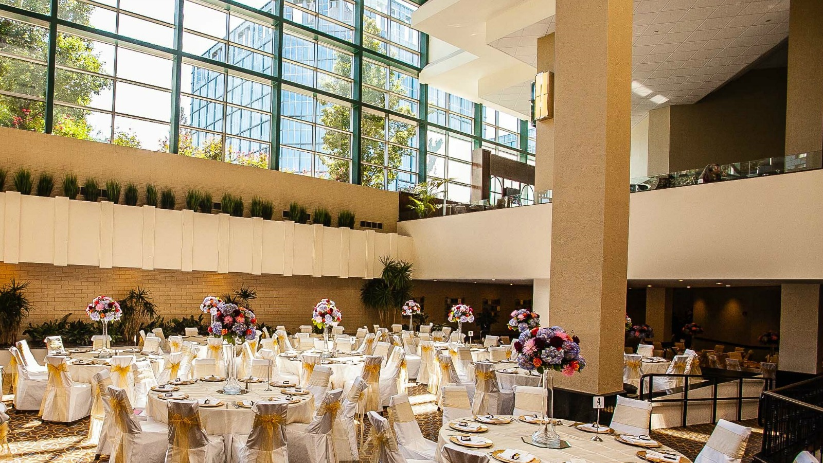 Connecticut Wedding Reception In The Sheraton Stamford Atrium